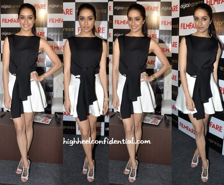 Shraddha Kapoor In Osman And Anand Bhushan At Filmfare's Latest Issue Launch-Unveiling