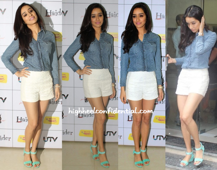 Shraddha Kapoor Wears GAS And Zara To 'Haider' Promotions-1