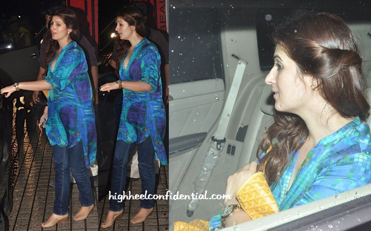 Twinkle Khanna At A Movie Screening At PVR