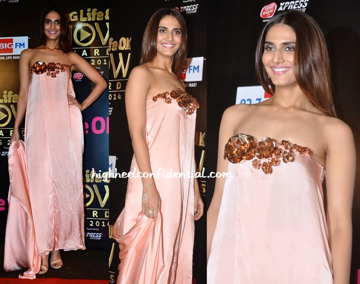 Vaani Kapoor In Nikhil Thampi At Life OK Awards 2014-2