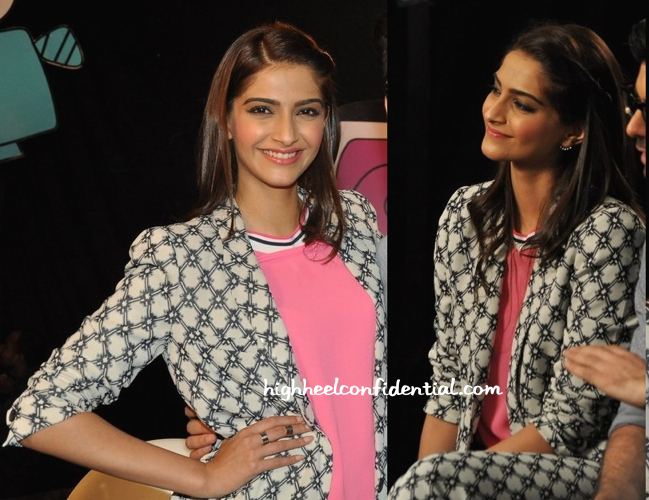 Wearing Isabel Marant, Sonam Kapoor Promotes 'Khoobsurat' On 'Captain Tiao' Sets-2