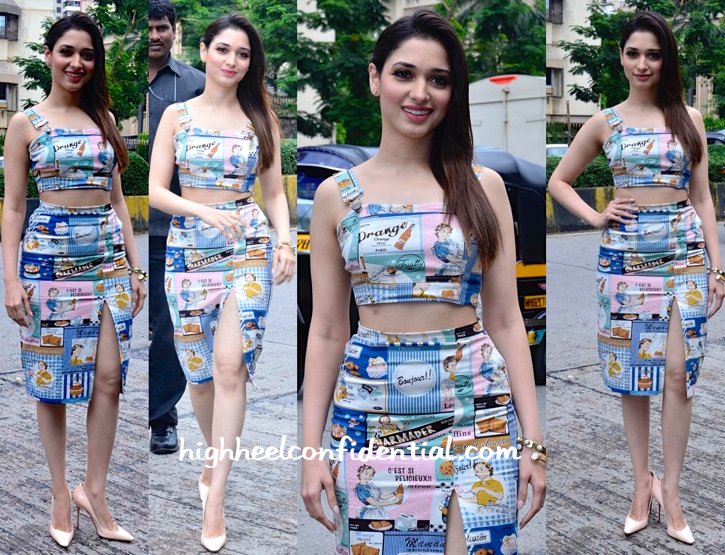 Wearing Nishka Lulla, Tamannaah Bhatia Promotes 'Entertainment'