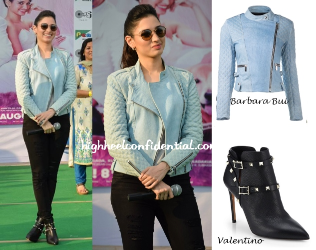 tamannaah-entertainment-barbara-bui-biker-jacket-valentino-boots