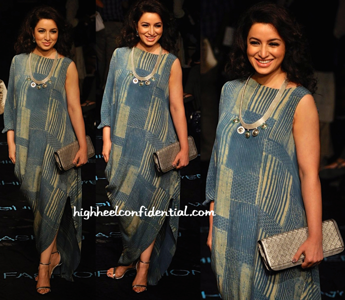 tisca chopra in cell dsgn 1111 and suhani pittie at lfw 2014