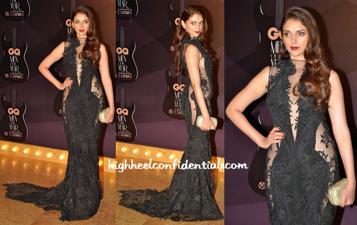 Aditi Rao Hydari In Gaurav Gupta At GQ Awards 2014-1