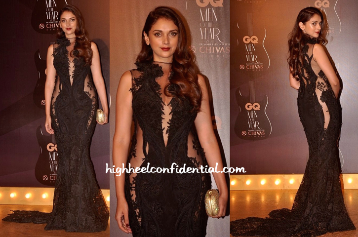 Aditi Rao Hydari In Gaurav Gupta At GQ Awards 2014-2