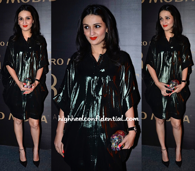 Anu Dewan In Lanvin And Judith Leiber At Marquee By Karan Johar For Vero Moda Launch