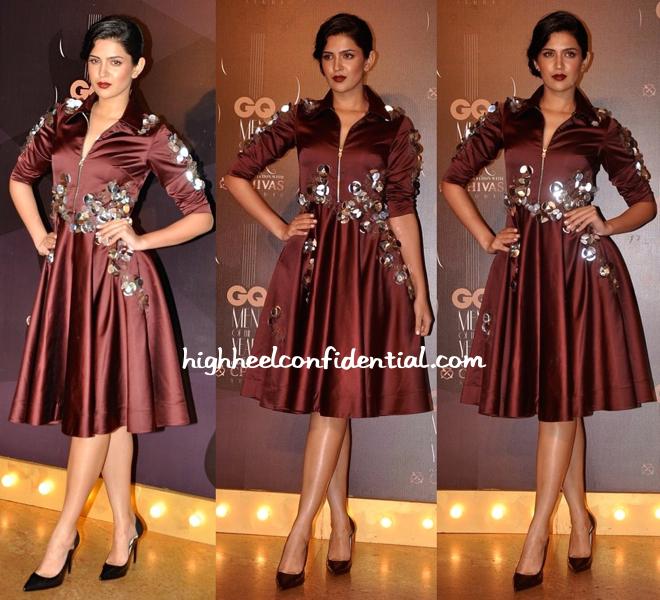 Deeksha Seth In Dhruv Kapoor And Zara At GQ Awards 2014