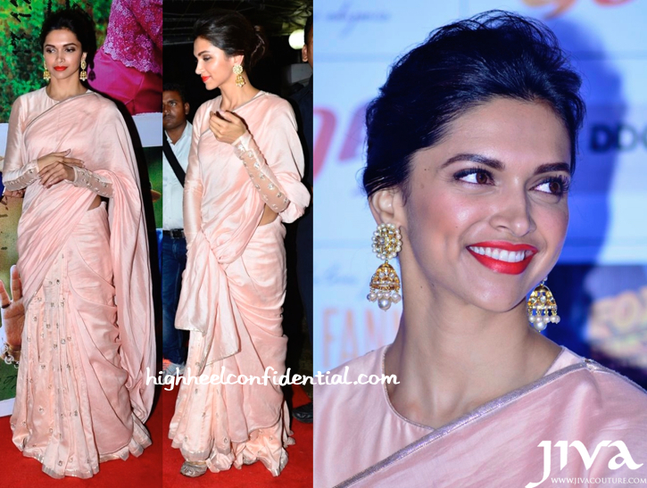Deepika Padukone In Payal Singhal At Finding Fanny Screening And On JDJ Sets-2