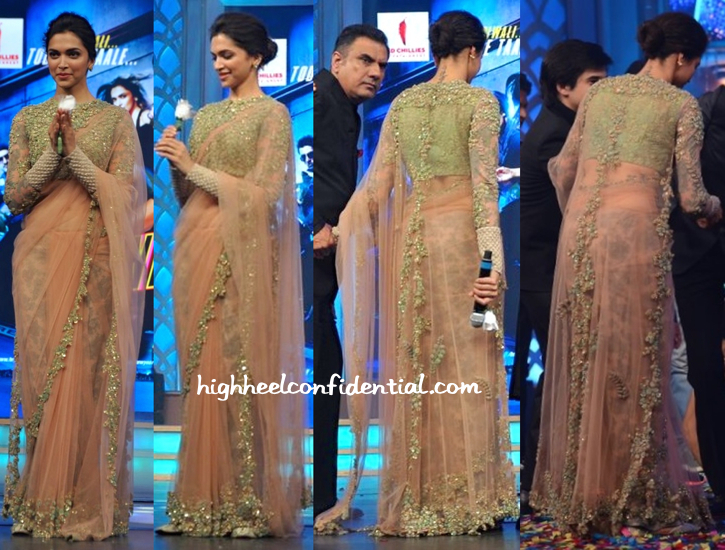 Deepika Padukone In Sabyasachi At 'Happy New Year' Music Launch-2