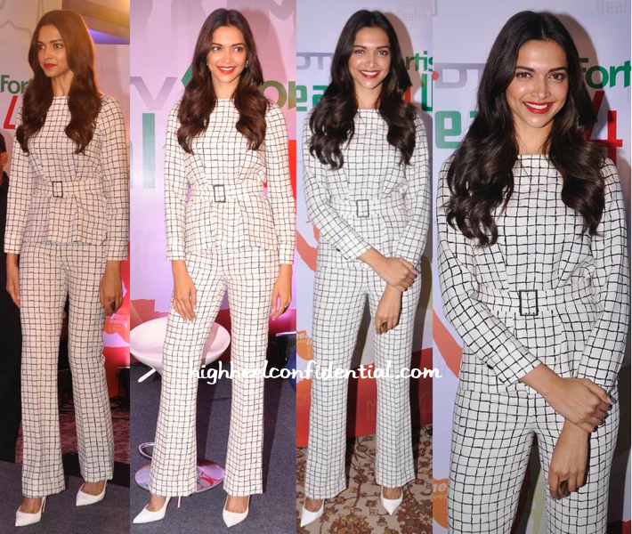 Deepika Padukone In Zara At NDTV Fortis 'Health 4 U' Press Meet-1