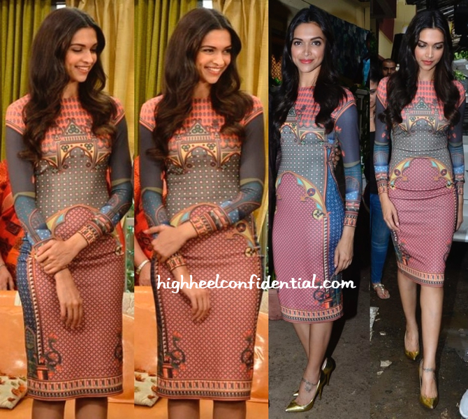 Deepika Padukone Wears Pankaj And Nidhi To 'Finding Fanny' Promotions-1