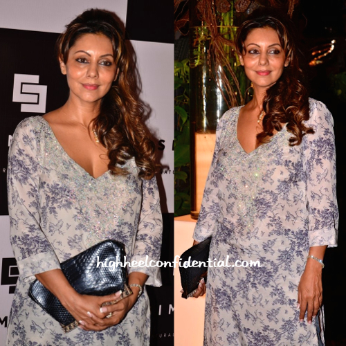 Gauri Khan In Monisha Jaising At simone store launch and at sanjay kapoor's bash-2