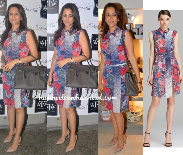 Gayatri Oberoi Wore A Nonoo Dress To HouseProud Pop-Up At The White Window Last Month