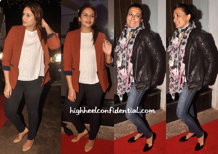 Huma Qureshi And Mini Mathur At Finding Fanny Screening-1