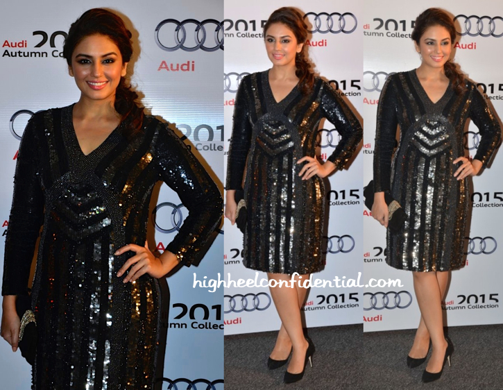 Huma Qureshi In Rohit Gandhi + Rahul Khanna At Audi Launch Event