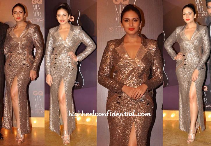 Huma Qureshi In Saaj By Ankita At GQ Awards 2014