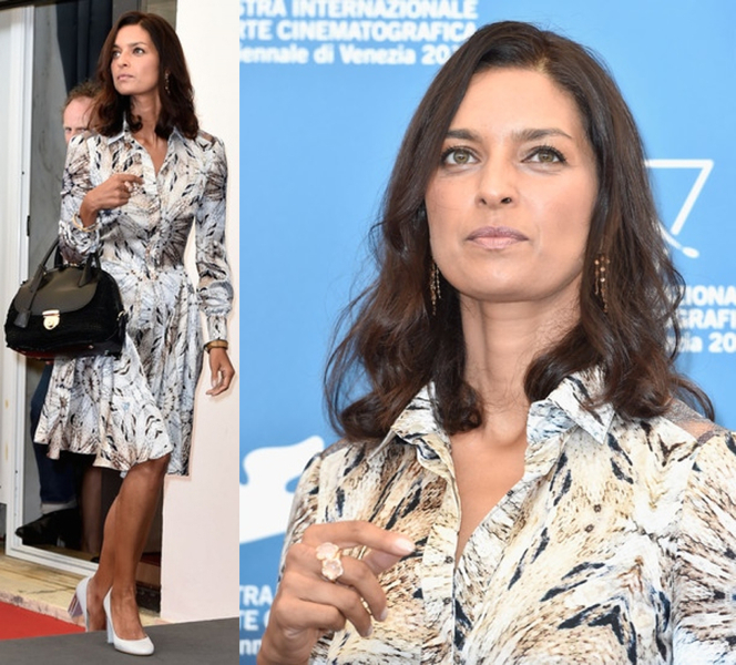 Jhumpa Lahiri In Philosophy Di Alberta Ferretti At International Jury Photo Call, 71st Venice International Film Festival