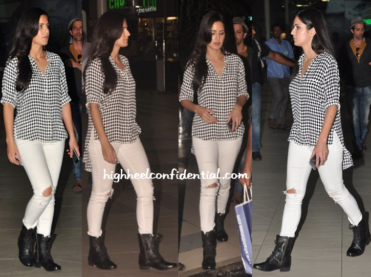 Katrina Kaif At Mumbai Airport in sass and bide