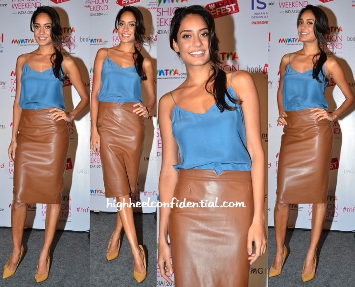 Lisa Haydon Wears Zara To Myntra Event (Also Seen Previously On Parineeti)