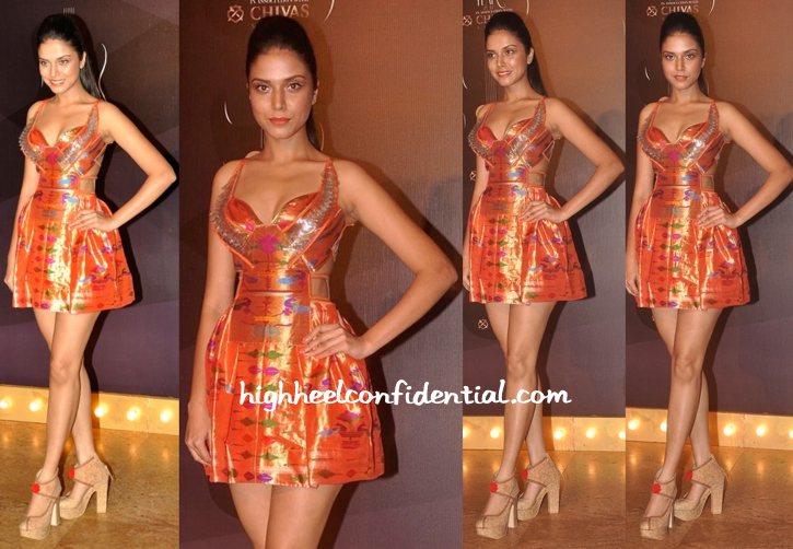 Manasi Moghe In Swapnil Shinde At GQ Awards 2014