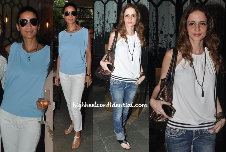 Mehr Jessia Rampal And Sussanne Khan Roshan At Bespoke Vintage Launch