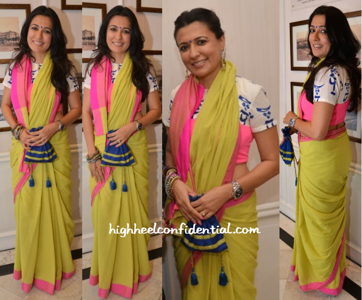 Mini Mathur In Masaba At Tarun Tahiliani's Show For Sahachari Foundation
