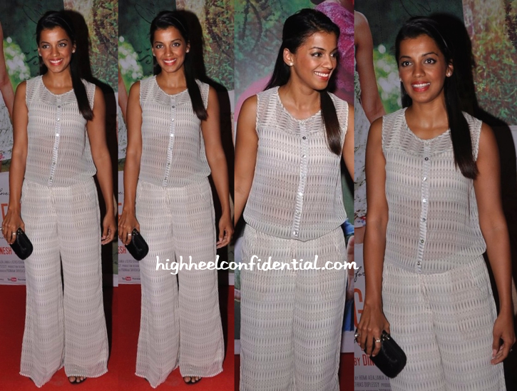 Mugdha Godse Wears AND To Finding Fanny Screening