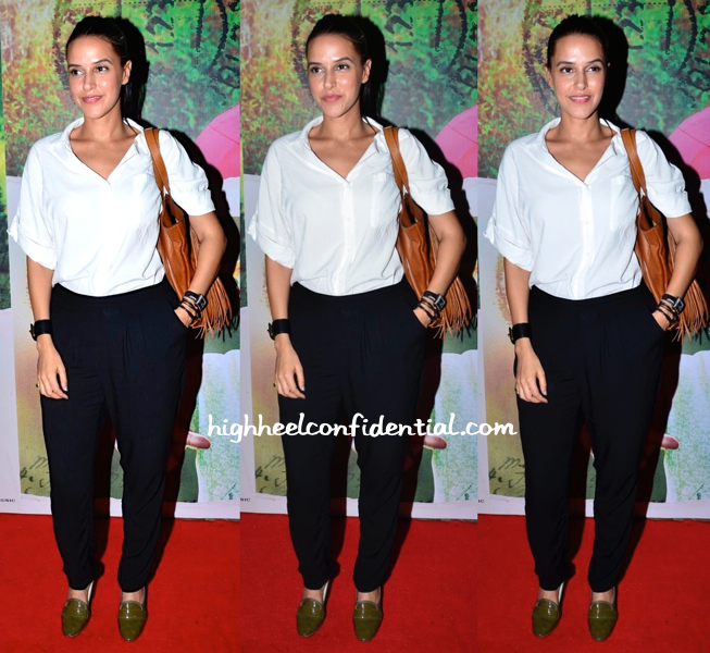 Neha Dhupia In H&M At 'Finding Fanny' Screening