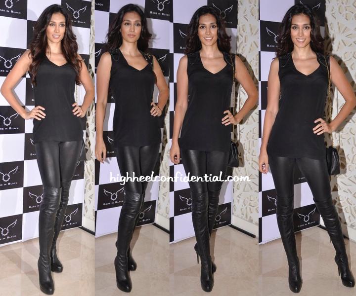 Preeti Desai Wears Bare In Black To The Label's Launch