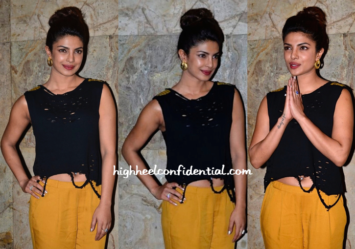Priyanka Chopra In The Source And Zara At 'Mary Kom' Screening-1