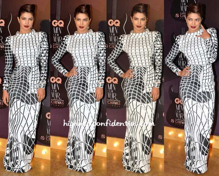 Priyanka Chopra In Toni Maticevski And Amrapali At GQ Awards 2014-1