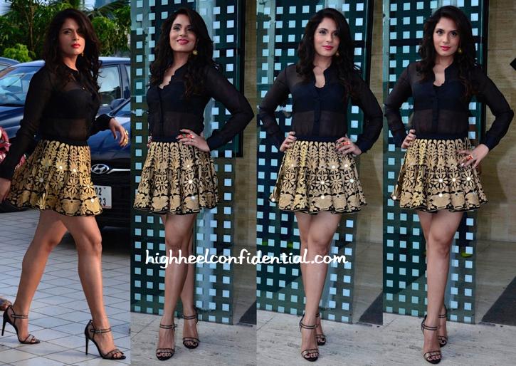 Richa Chadda Wears Mayyur Girotra To 'Tamanchey' Promotions-1