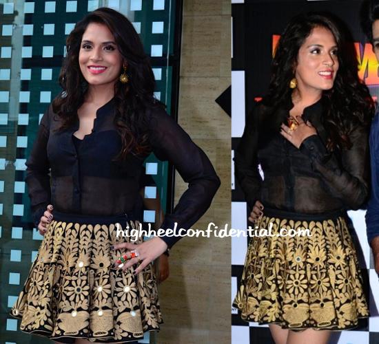 Richa Chadda Wears Mayyur Girotra To 'Tamanchey' Promotions-2