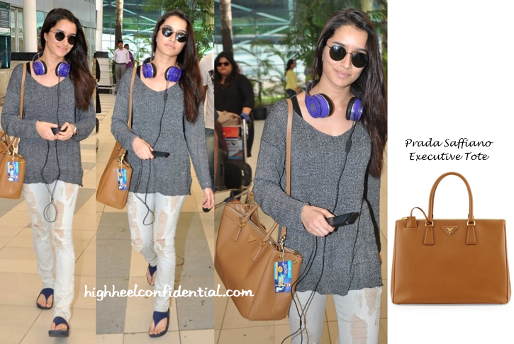 Shraddha Kapoor Photographed At Mumbai Airport With A prada