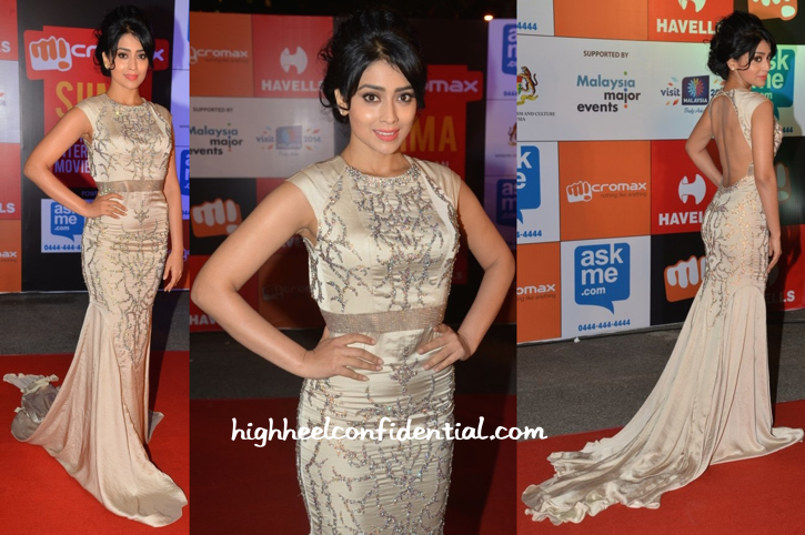 Shriya Saran In Rajat Tangri At SIIMA Awards 2014-1