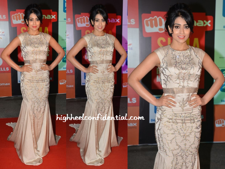 Shriya Saran In Rajat Tangri At SIIMA Awards 2014-2