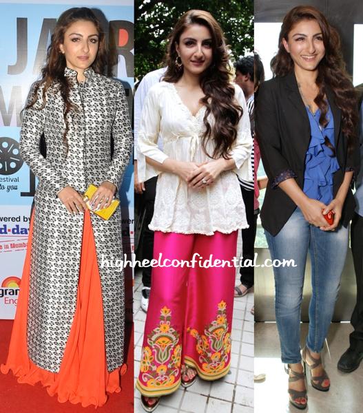 Soha Ali Khan At Jagran Film Festival And At Chaarfutiya Chhokare Promotions-1