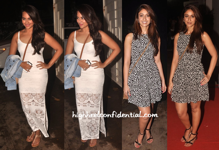 Sonakshi Sinha And Ileana D'Cruz At Finding Fanny Screening-2