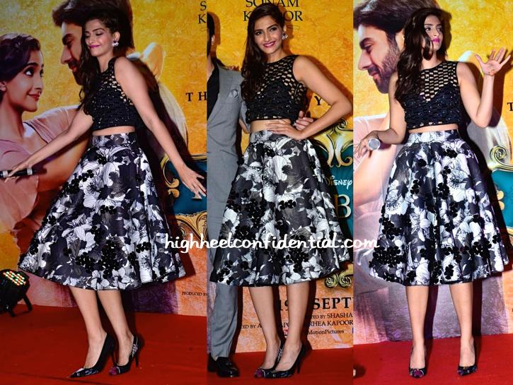Sonam Kapoor In Dior, Urvashi Joneja, DRVV And Prerto At Khoobsurat's Music Launch-2
