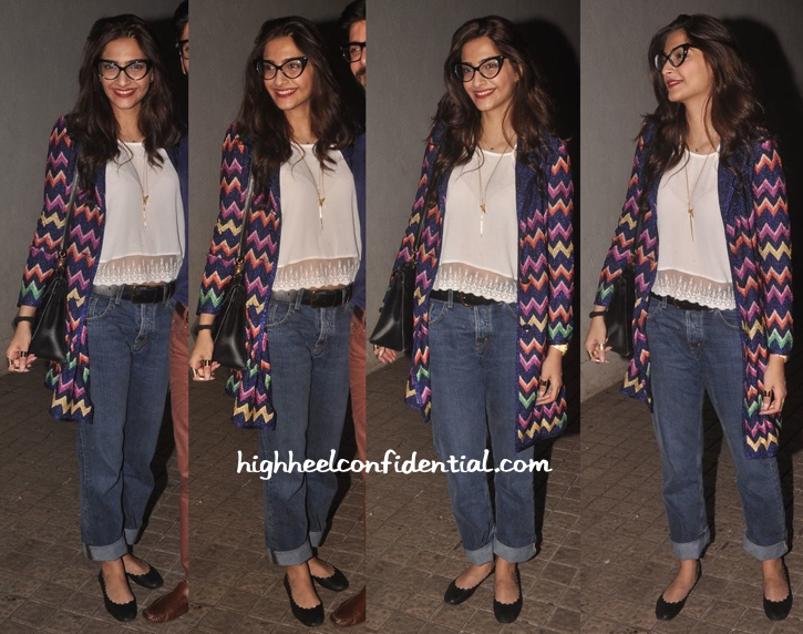Sonam Kapoor Wears Missoni To 'Khoobsurat' Screening-1