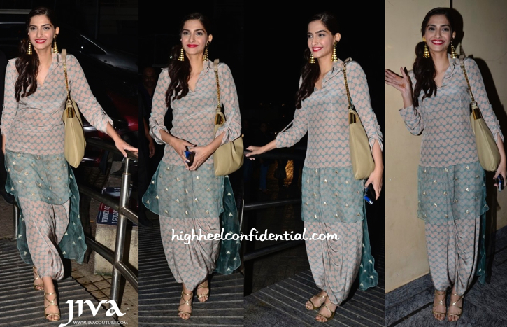 Sonam Kapoor Wears Payal Singhal To Khoobsurat Promotions (And Later To Finding Fanny Screening)-2