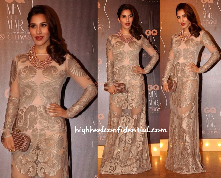 Sophie Choudry In Pankaj And Nidhi And Valliyan At GQ Awards 2014-2