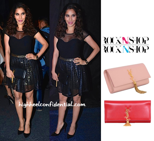 Sophie Choudry Totes Saint Laurent To The Marquee By Karan Johar For Vero Moda Launch