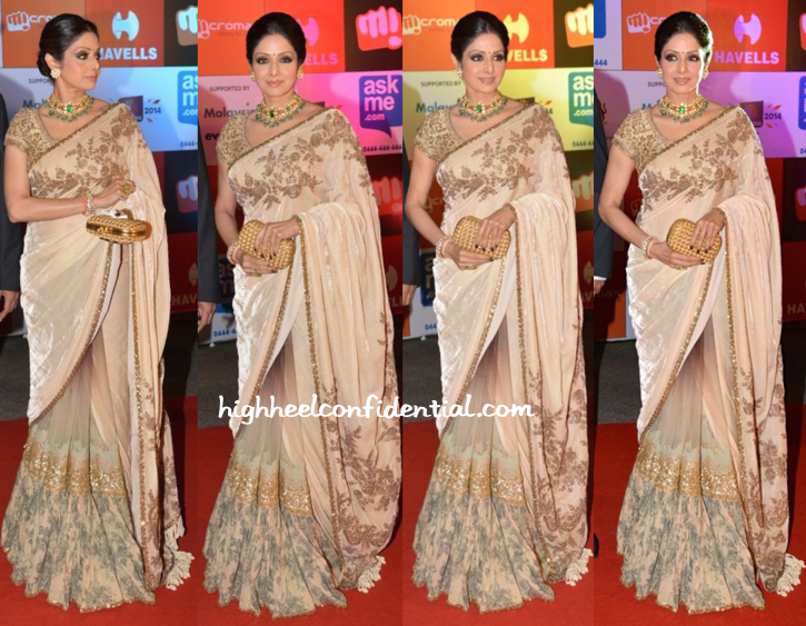 Sridevi In Sabyasachi At SIIMA Awards 2014-1