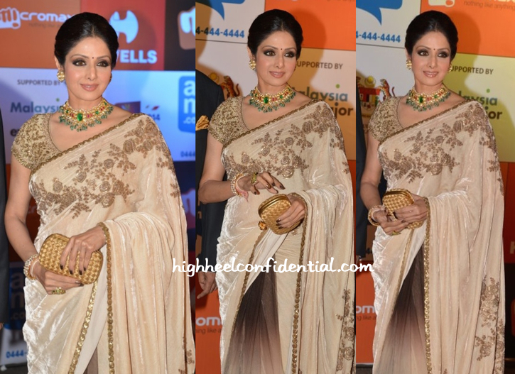 Sridevi In Sabyasachi At SIIMA Awards 2014-2