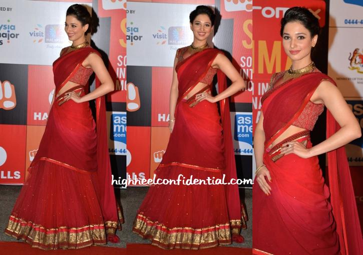 Tamannaah in Tarun Tahiliani At SIIMA Awards 2014-2
