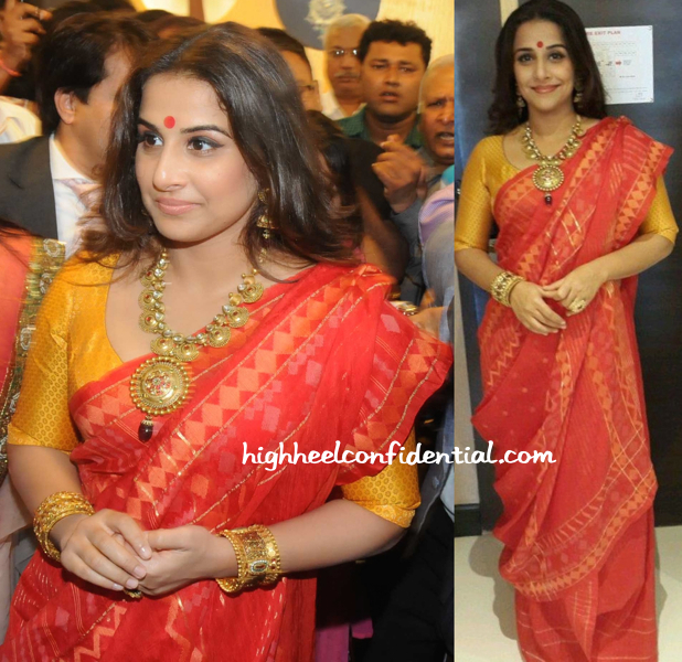 Vidya Balan In Vaishali S At PC Jewelers Launch In Kolkata-1