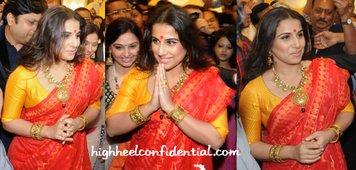 Vidya Balan In Vaishali S At PC Jewelers Launch In Kolkata-2