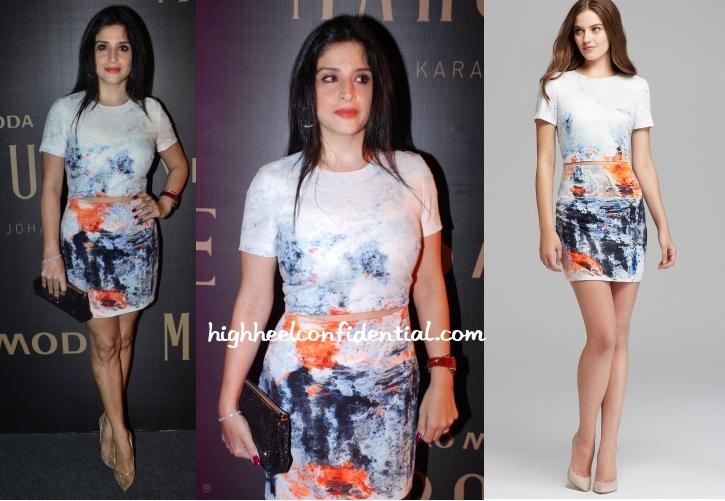 maheep-kapoor-bec-bridge-paint-dress-karan-johar-marquee-launch